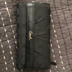 Coach wallet with checkbook sleeve